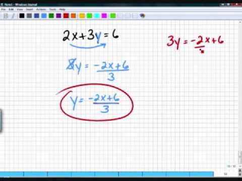 Algebra One Section 3.6 Part 2