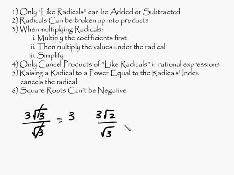 Algebra - Radicals Introduction Part 1 of 2 Intuitive Math Help Square Roots