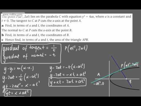 (25) FP1 - The Parabola and Hyperbola (Exam style question on area)