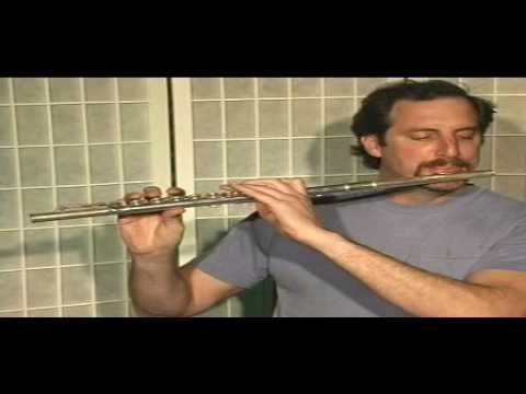 Flute Lesson -  Minuet in G #2 - Part 2 by J S Bach - Part