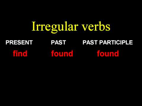 Irregular verbs  - F - Learn English -