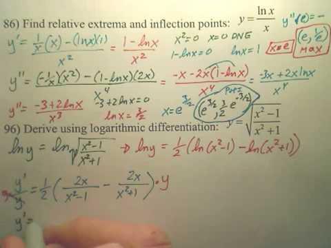 5.1 Natural Logarithmic Differentiation Practice C2 - Calculus