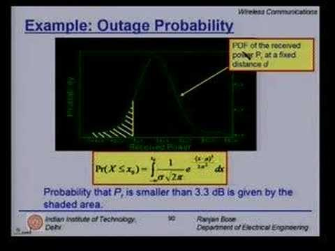 Lecture 11 - Mobile Radio Propagation Contd