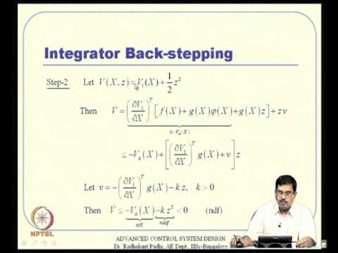 Mod-15 Lec-39 Integrator Back-Stepping; Linear Quadratic (lQ) Observer