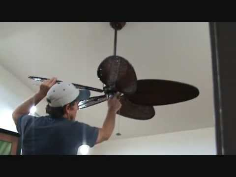 Adjusting a wobbling ceiling fan
