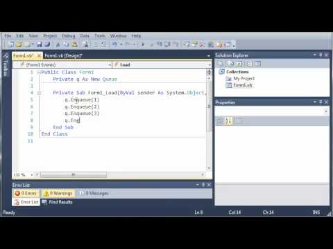 Visual Basic Tutorial - 83 - Queues