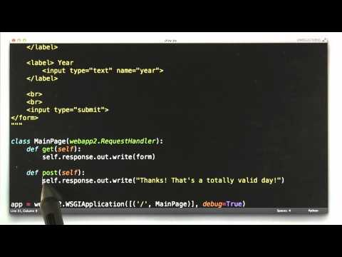 Handling Posts - CS253 Unit 2 - Udacity