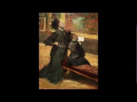 Edgar Degas, Visit to a Museum, c. 1879--90
