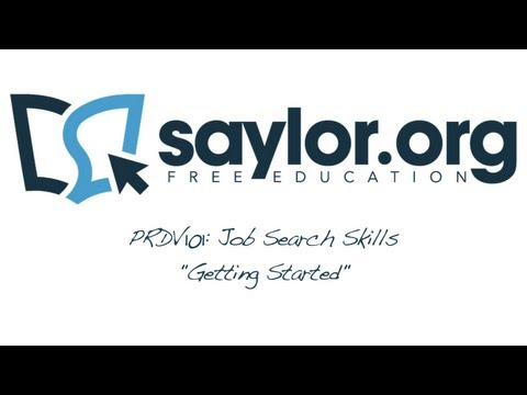 Saylor.org's Job Search Skills - Course Overview