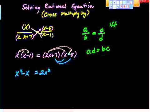 Solving Rational Equations (cross multiplying) pt II