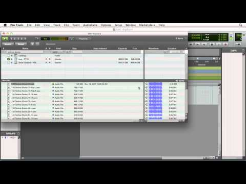 Importing files into an existing Pro Tools 10 session | lynda.com tutorial
