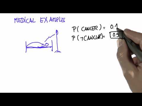 Cancer Example 1 Solution - Intro to Statistics - Conditional Probability - Udacity
