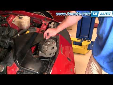 How To Install Replace Alternator Chevy Camaro Pontiac Trans AM 82-92 1AAuto.com