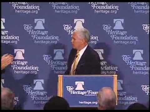 Rep. Mike Pence (R-Ind.) Discusses Conservative Principles