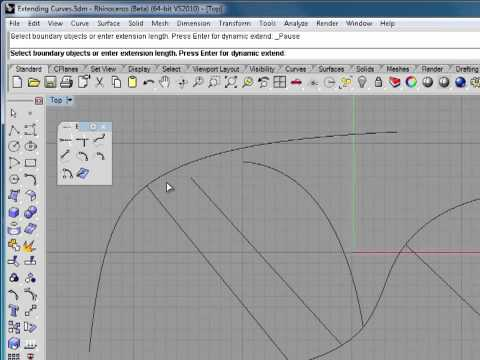 Rhino 5 Tutorial | Extending Curves | InfiniteSkills Training