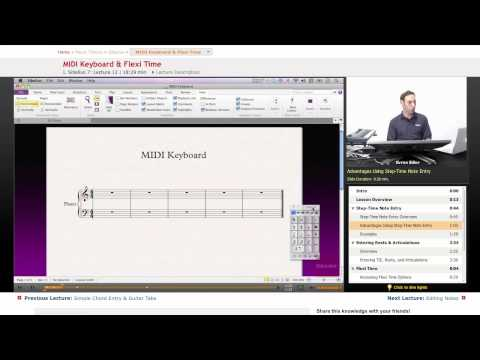 Sibelius: MIDI Keyboard & Flexi Time
