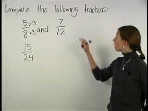 Comparing Fractions - YourTeacher.com - Pre Algebra Help