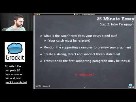 Grockit SAT TV Course Lesson 7, Part 3 (Essay)