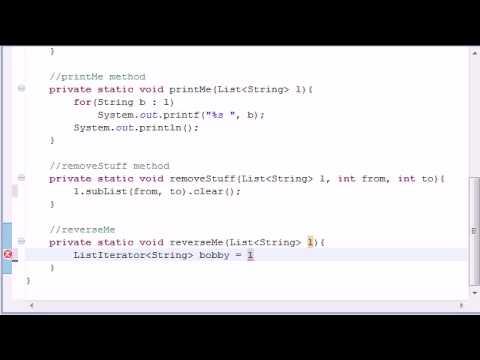 Intermediate Java Tutorial - 7 - LinkedList Program