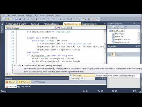Visual Basic Tutorial - 173 - Paint Part 6   Fixing The Screen Flicker