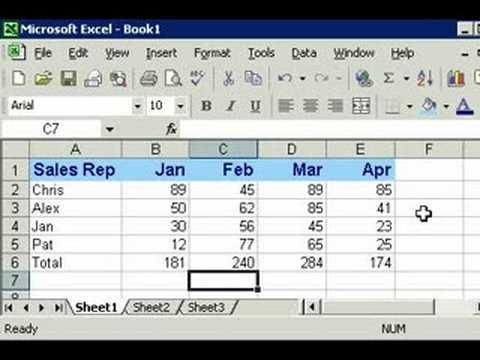 Microsoft Excel 101 part 9