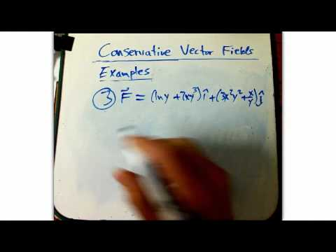 Conservative vector fields---examples