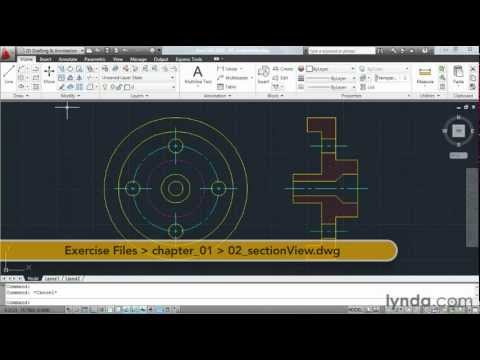 Exploring the AutoCAD tabs and tools | lynda.com overview