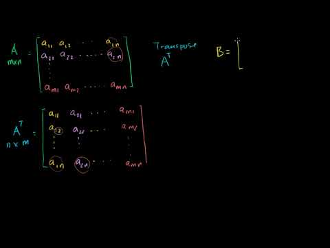 Linear Algebra: Transpose of a Matrix