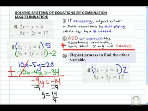 Solving Systems by Combination