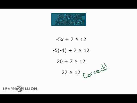Solve inequalities with negative coefficients by rewriting - A-CED.1
