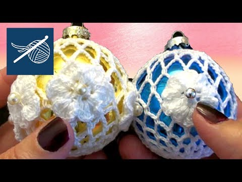 Left Hand How to Make a Thread Crochet Holiday Lace Ornament - Christopher