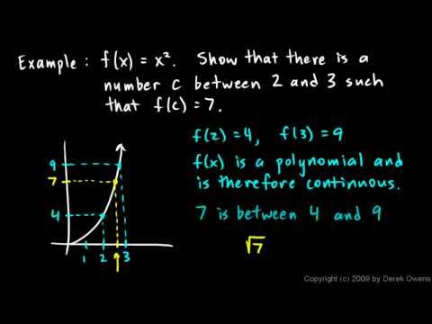 Calculus 2.7a - The Intermediate Value Theorem