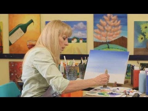 How to Paint with Acrylic Paint: How to Paint a Sky