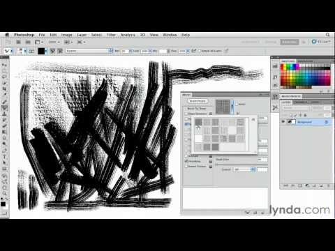 Photoshop: How to control brush textures | lynda.com tutorial
