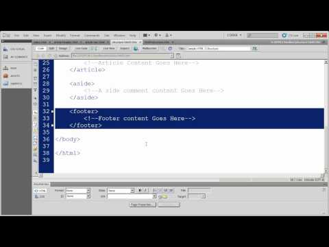4- HTML5 Fundamentals with Dreamweaver CS5 - Semantic Structural Tags - Part 1