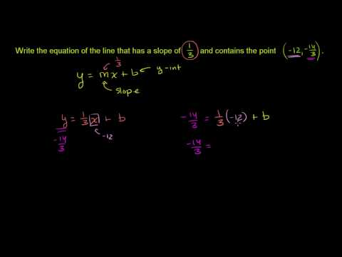 Equation of a Line hairier example