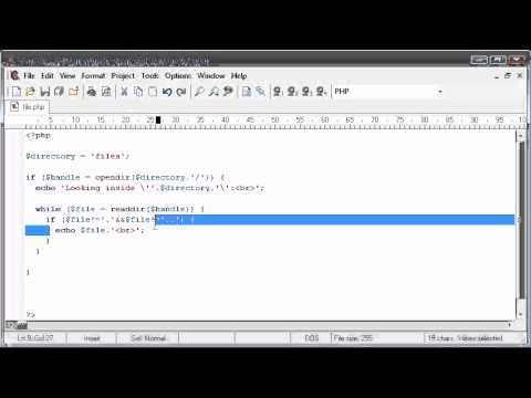 Beginner PHP Tutorial - 83 - File Handling: Listing Files Part 2