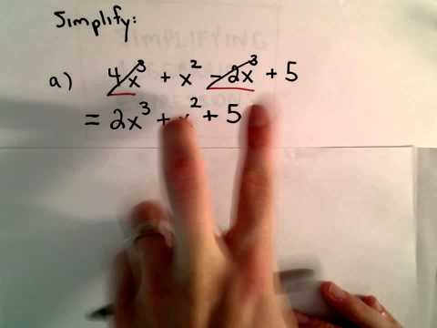 Simplify an Algebraic Expression by Combining Like Terms