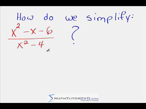 Simplifing a Rational Expression in Algebra