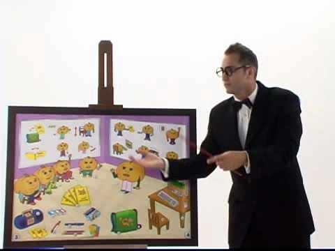Classroom Actions & Commands pt.7:  English Grammar 'Listen & Repeat' for Children by Pumkin.com