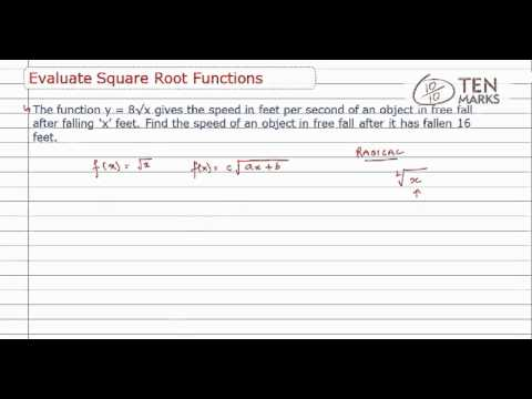 Evaluate Square-Root Function