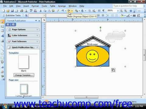 Publisher 2003 Tutorial The Redo Button Microsoft Training Lesson 6.10
