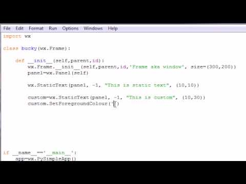 wxPython Programming Tutorial - 7 - Static Text