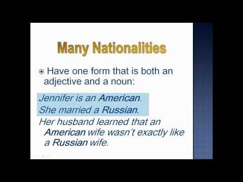 Articles (Languages, Countries & Nationalities) - Lesson 25, Part 1 - English Grammar