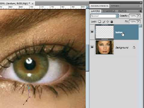 How To Add Eyelashes In Photoshop Lesson 11