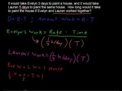 How to Solve Work Problems - College Algebra Tips