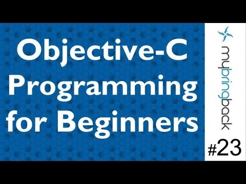 Learn Objective C Tutorial 1.23 Getters/Setters Long Way