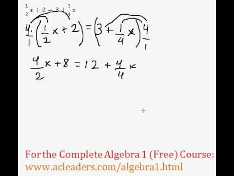 Equations With Fractions - Multiple Steps #3