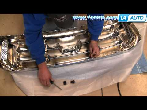 How To Install Replace Radiator Grille 99-07 Ford Super Duty F250 F350 1AAuto.com