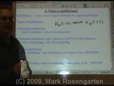 Chemistry Tutorial 9.04:  Equilibrium